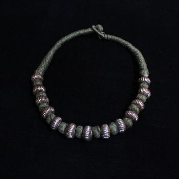 SILVER WAX NECKLACE